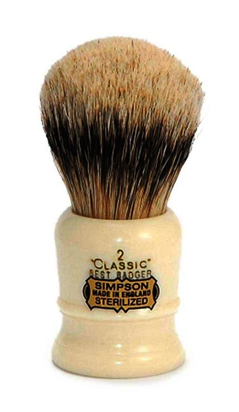 Simpsons Classic 2 Best Badger Hair Shaving Brush