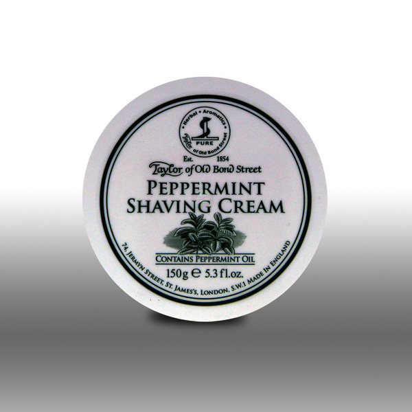 Taylor of Old Bond Street Peppermint Shaving Cream Tub 150g