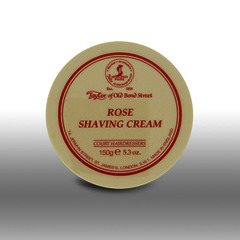 Taylor Of Old Bond Street Rose shaving cream in 150ml tub