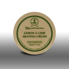 Taylor of Old Bond Street Lemon and Lime shave cream Tub