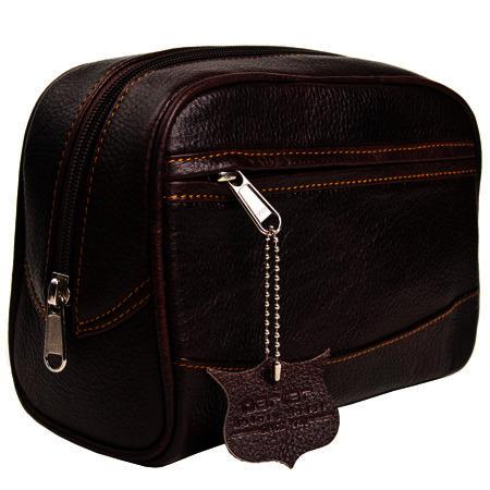 Parker Leather Wash Bag