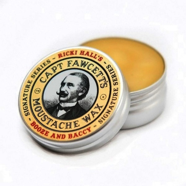 Captain Fawcett's Ricki Hall Booze & Baccy Moustache Wax 15ml