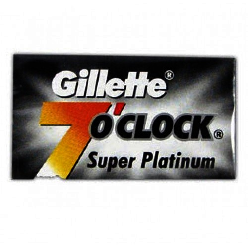 Gillette 7 O'Clock Super Platinum Razor Blades (Black) 5's
