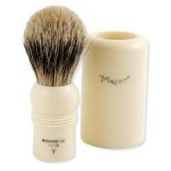Simpsons Major Super Travel Badger Hair Shaving Brush