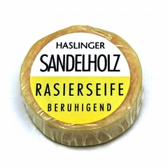 Haslinger Sandalwood Shaving Soap 60g Puck