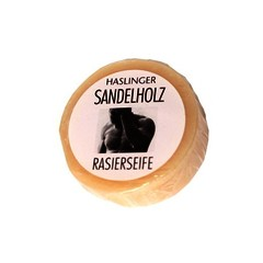 Haslinger SPA Sandalwood Shaving Soap 60g Puck with case