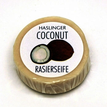Haslinger Coconut Shaving Soap 60g Puck