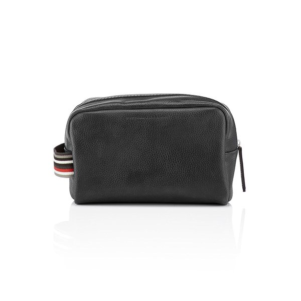 Pittards Large Dopp Kit Attacama Black Leather