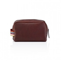 Pittards Large Dopp Kit Attacama Tobago Brown Leather