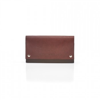 Pittards Large Modern Travel Wallet Attacama Tobago Brown Leather