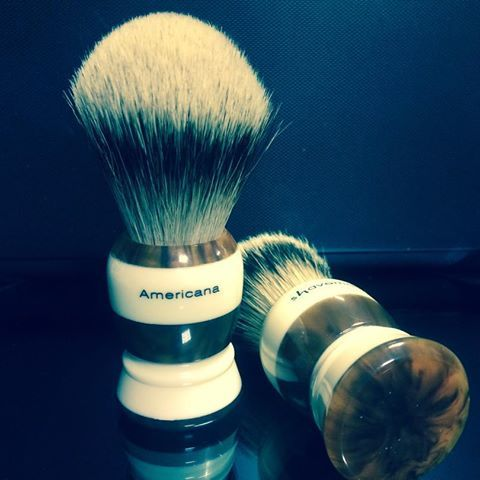Shavemac 'Americana' Badger Hair Shaving Brush