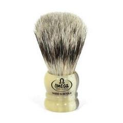 Omega Mighty Midget (Mixed Midget) Badger/Boar Hair Shaving Brush