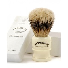 D.R Harris H3 Badger Hair Shaving Brush Imitation Ivory Base