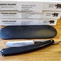 Thiers - Issard 5/8 Black Plastic Le Dandy Straight Razor