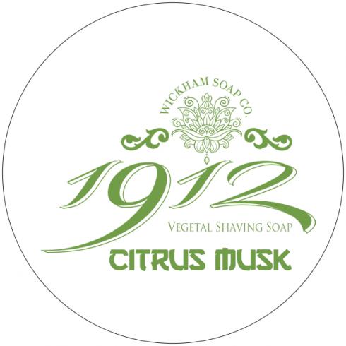 Wickham Soap Co. 1912 Citrus Musk Shaving Soap 140g