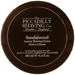 The Piccadilly Shaving Co. Sandalwood Shaving Cream Bowl 180g