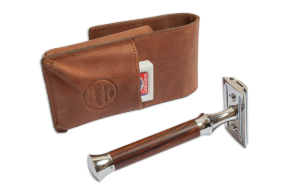 G&F Timor Leather Safety Razor Travel Case