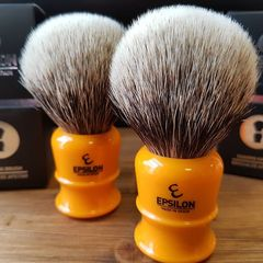 Vie-Long Epsilon 2-Band Badger Shaving Brush (Butterscotch)