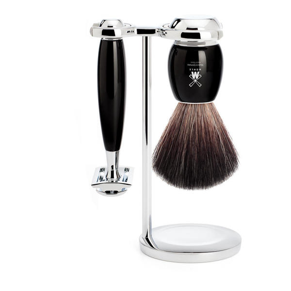 Muhle Vivo Black Resin Shaving Set