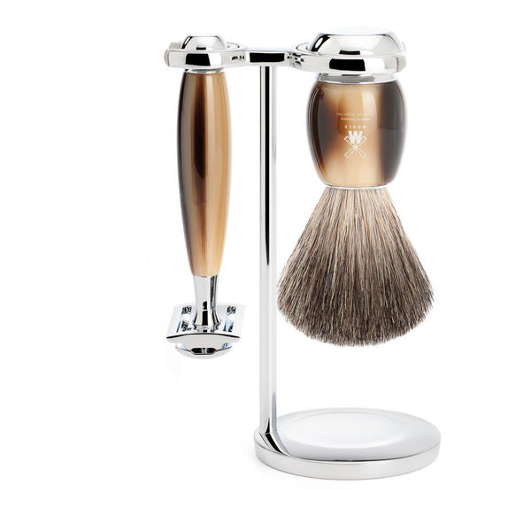 Muhle Vivo Horn Resin Shaving Set