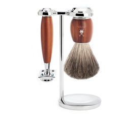 Muhle Vivo Plum Wood Shaving Set