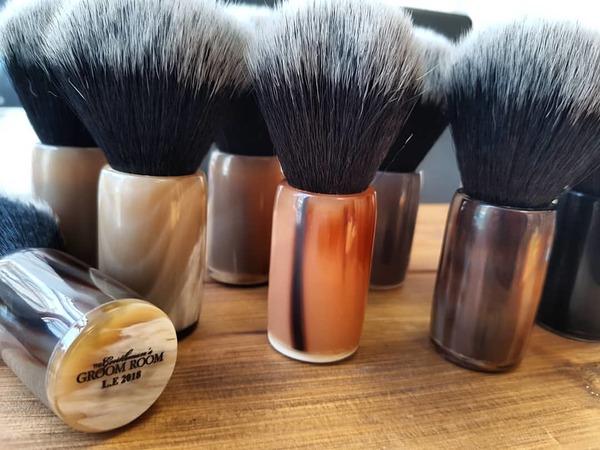 The Gentleman's Groom Room LTD Edition Black/White Synthetic Shaving Brush