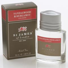 St James of London Sandalwood & Bergamot Cologne 50ml