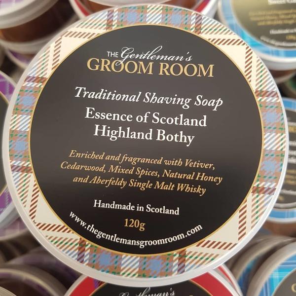 Essence of Scotland Highland Bothy Traditional Shaving Soap 120g