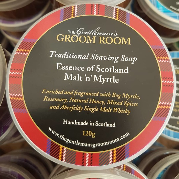 Essence of Scotland Malt 'n' Myrtle Traditional Shaving Soap 120g