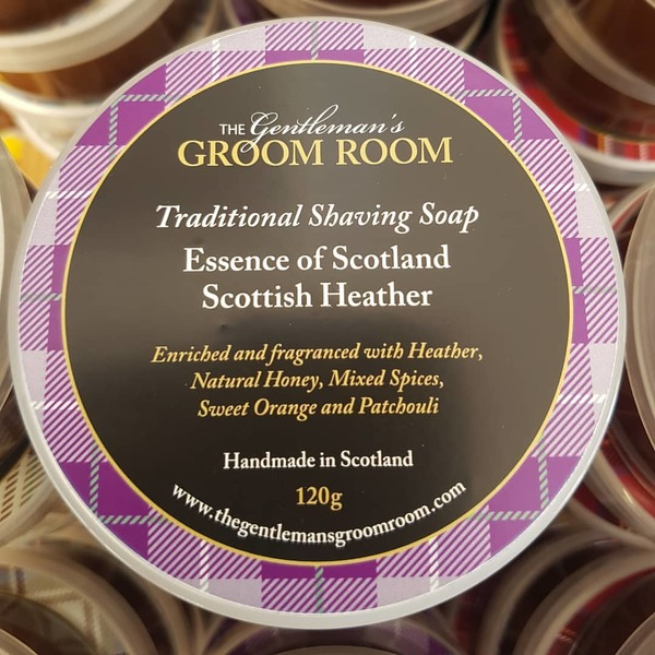 Essence of Scotland Scottish Heather Traditional Shaving Soap 120g