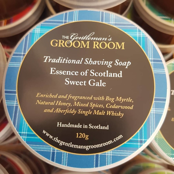 Essence of Scotland Sweet Gale Traditional Shaving Soap 120g