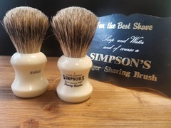 Simpsons Eagle 1 Pure Badger Shaving Brush
