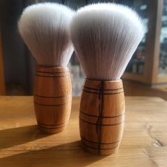 'Scotch Barrel' Shaving Brush Grey/White Synthetic