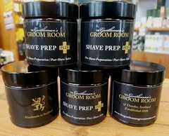The Gentleman's Groom Room Shave Prep Plus In Amber Glass Apothecary Jar 50g