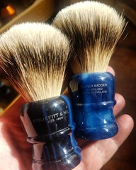 Truefitt & Hill Wellington Super Badger Shaving Brush (Faux Opal)