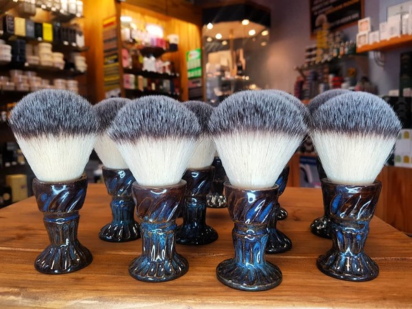 Local Artisan Hand Thrown Handle Shaving Brushes (synthetic knots)