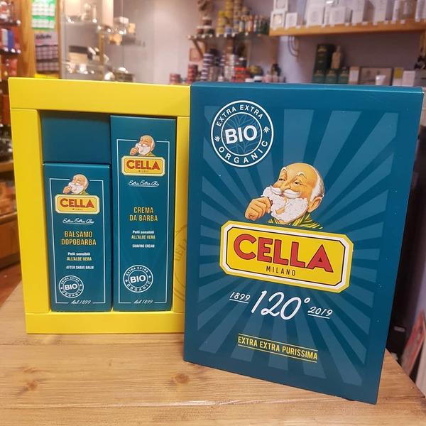 Cella Aloe Vera Shaving Cream & Aftershave Balm Gift Set