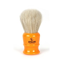 Epsilon White Horse Hair Shaving Brush (Butterscotch)