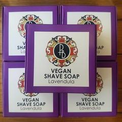 Phoenix & Beau Vegan Lavendula Shaving Soap 40g
