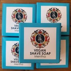 Phoenix & Beau Vegan Mentha Shaving Soap 40g