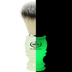 Omega Hi-Brush Glow In The Dark Shaving Brush
