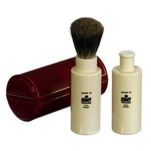 GB Kent Turnback travel badger hair shaving brush