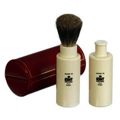 GB Kent Turnback travel badger hair shaving brush