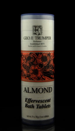 Geo F Trumper Almond Effervescent Bath Tablets 9 x 30g