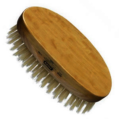 GB Kent Oval MS11 - Satin and beech wood, pure white bristle hair brush