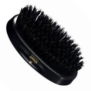GB Kent Gent's Hair Brush MN11  Oval - Ebony wood and pure black bristle.