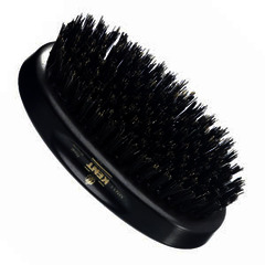 GB Kent Gent's Hair Brush MN11  Oval - Ebony wood and pure black bristle.