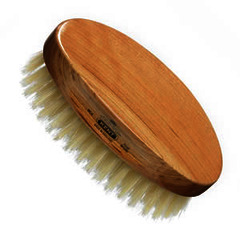 GB Kent Gent's Travel Or Boys Hair Brush MC4  Oval - Cherry wood
