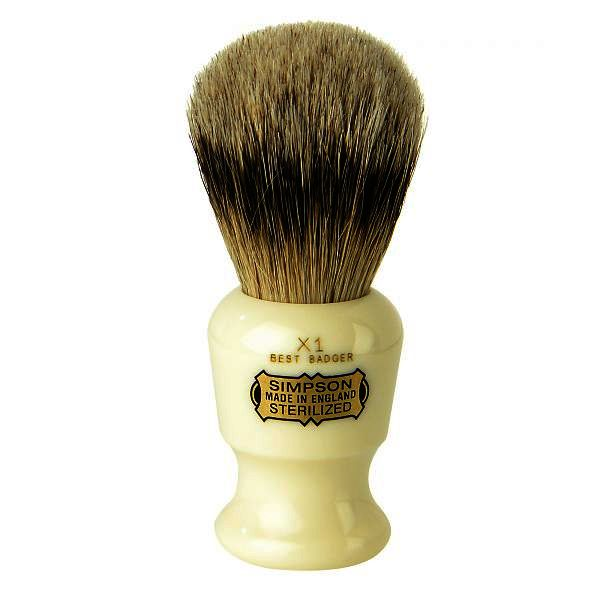 Simpsons Commodore X1 Best Badger Hair Shaving Brush