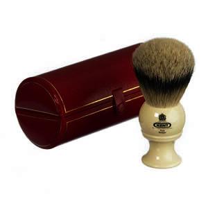 The GB Kent BK8 Pure Silver Tip Badger Hair Shaving Brush